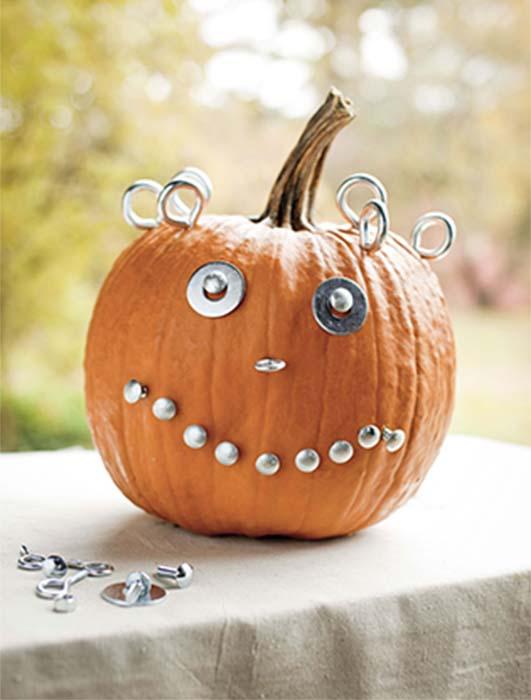 goofy eyes pumpkin