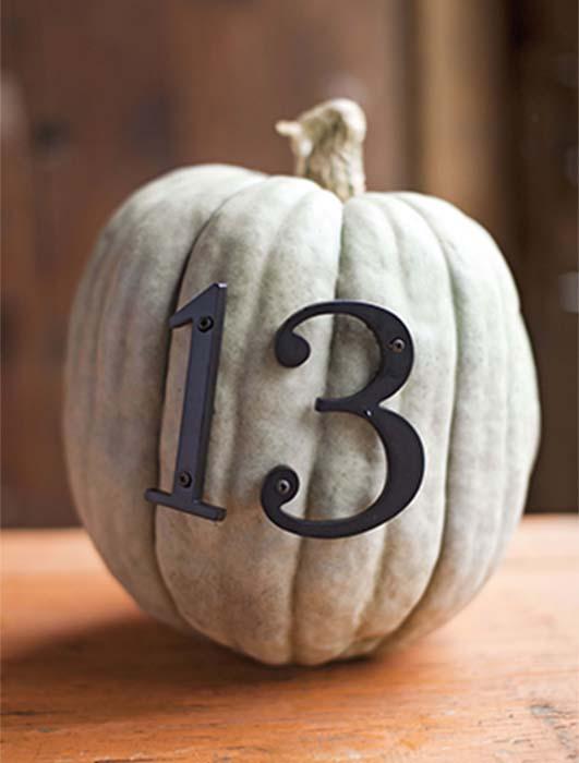 number pumpkin
